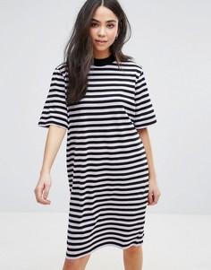 Платье-футболка в полоску Cheap Monday - Фиолетовый