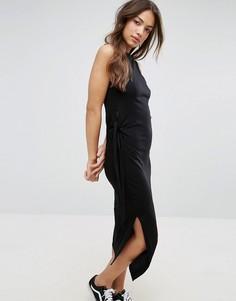 Асимметричное платье миди Cheap Monday Curle - Черный