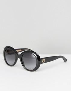 Большие солнцезащитные очки Gucci - Черный