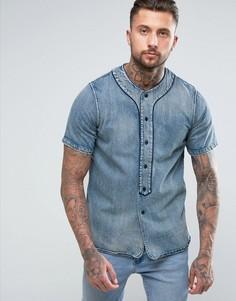 Джинсовая рубашка Diesel D-BOW - Синий