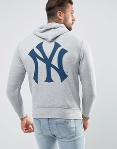 Худи с принтом на спине Majestic New York Yankees - Серый