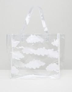 Прозрачная сумка-тоут с облаками Lazy Oaf - Прозрачный