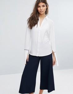 Рубашка с контрастной отделкой Unique21 - Белый