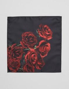 Платок для пиджака с розами ASOS - Красный