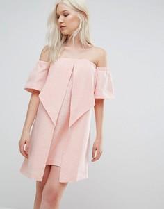 Платье-оригами N12H - Розовый