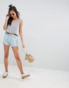 Льняные шорты для бега ASOS - Синий