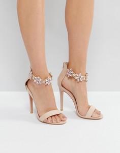 Декорированные босоножки на каблуке с ремешками вокруг щиколотки True Decadence - Розовый