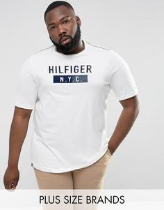 Белая футболка с логотипом NYC Tommy Hilfiger PLUS - Белый