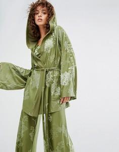 Оливково-зеленый халат Puma X Fenty - Зеленый