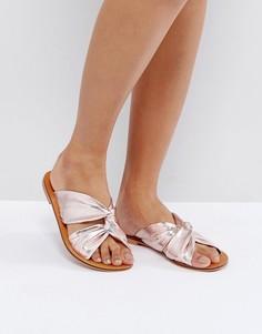 Кожаные сандалии с узлом ASOS FAVE - Розовый