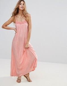 Розовое платье макси прямого кроя Hazel - Розовый