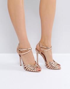 Босоножки на каблуке ASOS HONEYPIE - Золотой