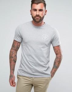 Серая узкая футболка Farah Lundy - Серый