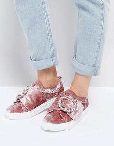 Кроссовки с пряжкой ASOS DRAGONFLY - Розовый