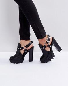 Туфли на платформе в стиле вестерн ASOS OLGA - Черный