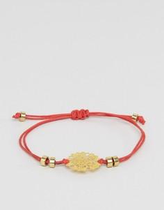 Ажурный браслет ASOS - Красный
