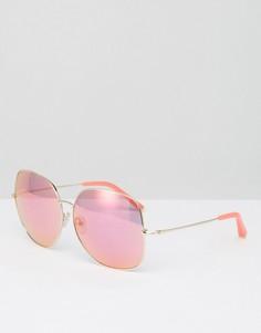 Большие розовые солнцезащитные очки Matthew Williamson - Розовый