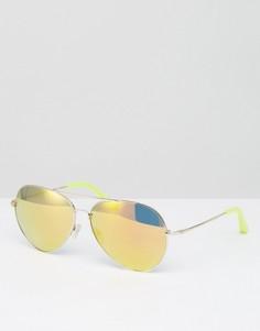 Золотистые солнцезащитные очки-авиаторы Matthew Williamson - Желтый
