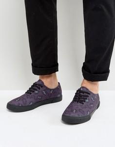 Фиолетовые кеды с леопардовым принтом ASOS - Фиолетовый