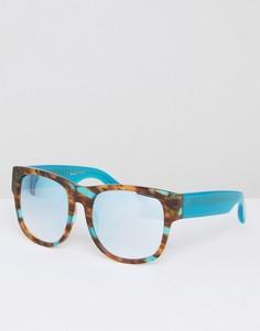 Черепаховые солнцезащитные очки с затемненными стеклами Matthew Williamson Jade - Синий