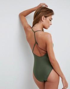 Слитный купальник ASOS - Зеленый