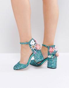 Туфли на каблуке ASOS PAPARAZZI - Синий