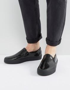 Черные кеды-слипоны с блестками ASOS - Черный