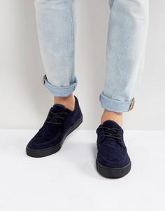Темно-синие вельветовые мокасины ASOS - Темно-синий