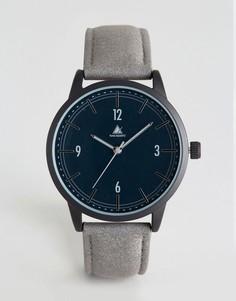 Часы с серым замшевым ремешком ASOS - Серый