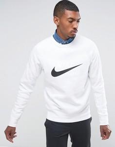 Белый свитшот с круглым вырезом Nike SB Icon 860106-100 - Белый