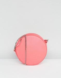 Сумка через плечо с цепочкой и кольцом ASOS - Розовый