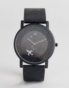 Монохромные часы с космическим дизайном ASOS - Черный
