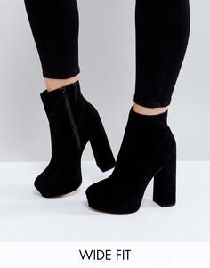 Ботинки на платформе для широкой стопы ASOS ESCAPE - Черный
