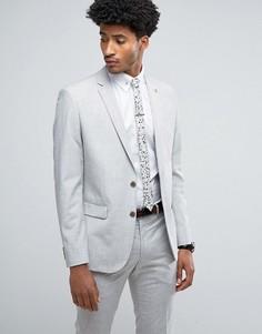 Пиджак скинни с узором в виде штриховки Farah - Серый