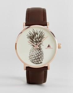 Часы с принтом ананаса на циферблате ASOS - Черный