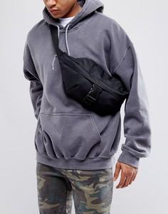 Черная сумка-кошелек на пояс с застежкой-карабином ASOS - Черный