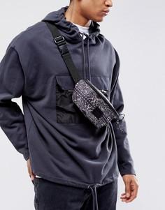 Сумка-кошелек на пояс с платочным принтом ASOS - Черный