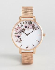 Часы цвета розового золота Olivia Burton Winter Garden - Золотой