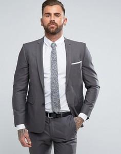 Серый облегающий пиджак Burton Menswear - Серый