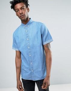 Джинсовая рубашка с короткими рукавами Troy - Синий