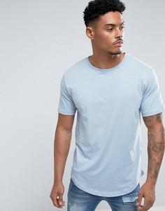 Длинная футболка Troy - Синий