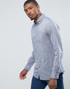 Узкая рубашка с длинными рукавами Jack & Jones Originals - Темно-синий