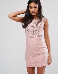 Кружевное платье-футляр Love & Other Things - Розовый