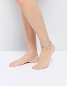 Комплект браслетов на ногу Pieces - Серебряный