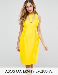 Платье-футляр с вырезом ASOS Maternity - Желтый