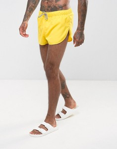 Желтые суперкороткие шорты для плавания с высокими разрезами по бокам ASOS - Желтый