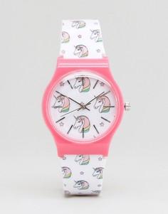 Часы с принтом единорога ASOS - Белый
