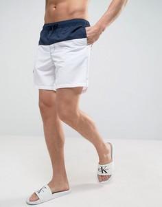 Сине-белые шорты для плавания средней длины ASOS - Темно-синий