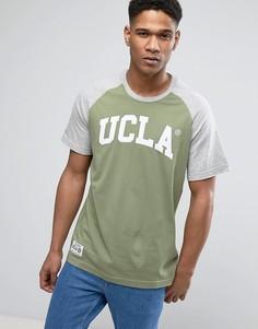 Футболка с рукавами реглан и принтом UCLA - Зеленый