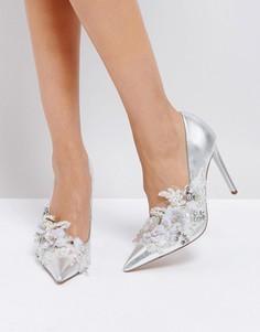 Туфли на высоком каблуке с декоративной отделкой ASOS PAVLOVA - Серебряный